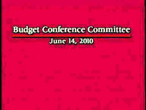 Senate Budget Conference Committee (Part 1/2)  6/14/2010