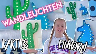 KAKTUS 🌵VS EINHORN 🦄 DIY ROOM DECOR IDEE LED LAMPEN  MaVie
