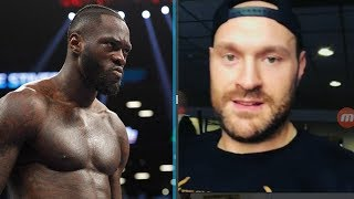 "FANS REACT! TYSON FURY ASKS DEONTAY WILDER ""ARE YOU GAME? LETS FIGHT!!!"""