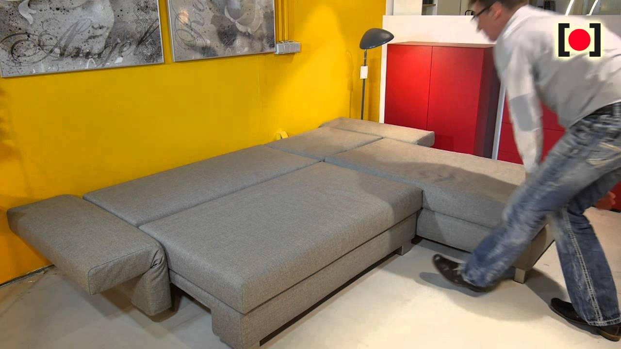 kennedy sofa bett transitional leather good life von signet youtube