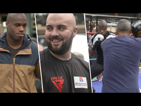 Daniel Dubois blanks Gorman, Gorman laughs, Dubois smashes pads | Public workout