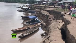 Las consecuencias tras el fuerte terremoto en Perú