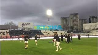 Estudiantes: ejercicios precompetitivos en la cancha de Quilmes antes del duelo con Aldosivi