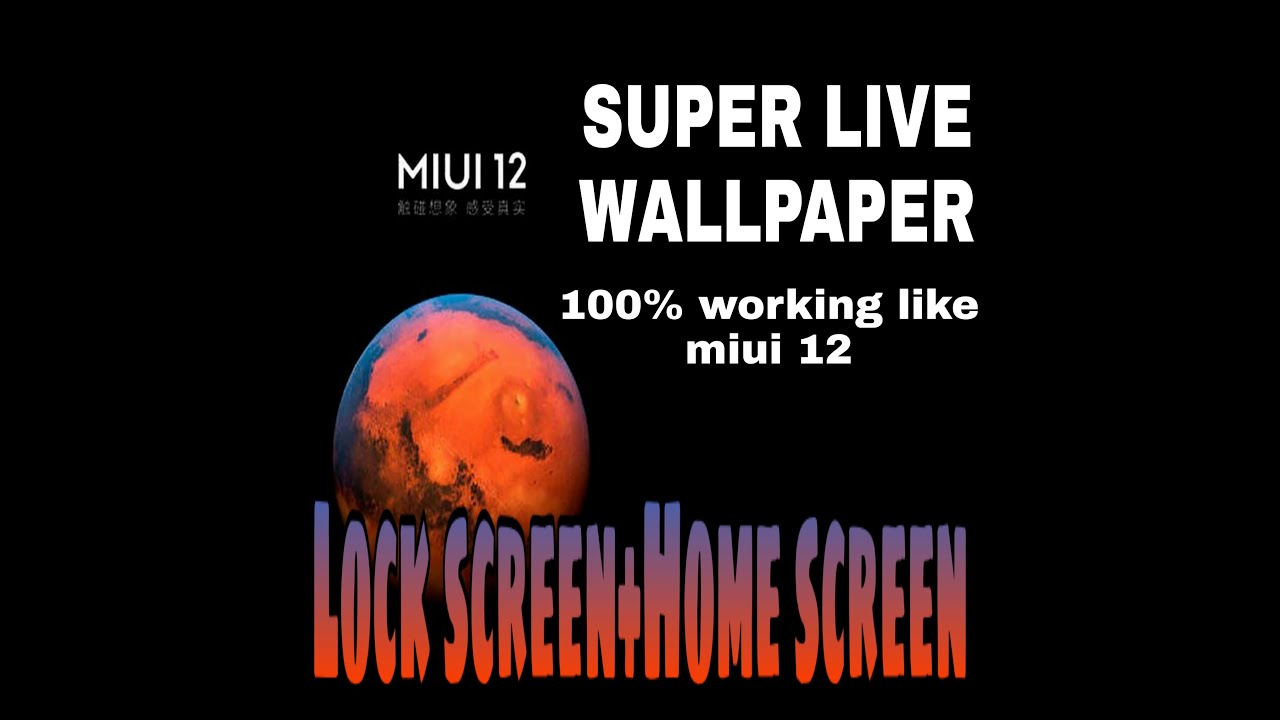 Miui 12 super live wallpaper in any Android.Home screen ...