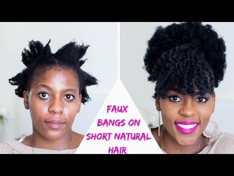 How to | Faux Bangs and Afro Puff on Short Natural Hair |TWA Tutorials | Hair Blogger Miriam Maulana