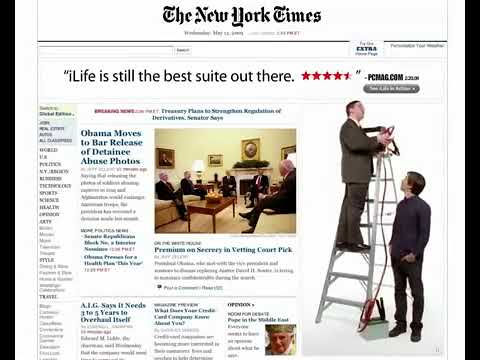 New York Times    Mac vs Pc Banner Campaign Ad iLife