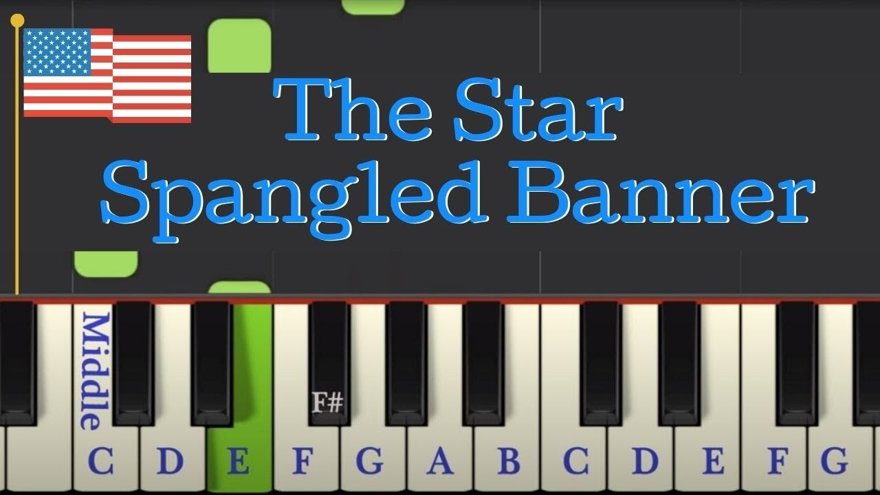 Easy Piano Tutorial The Star Spangled Banner Youtube