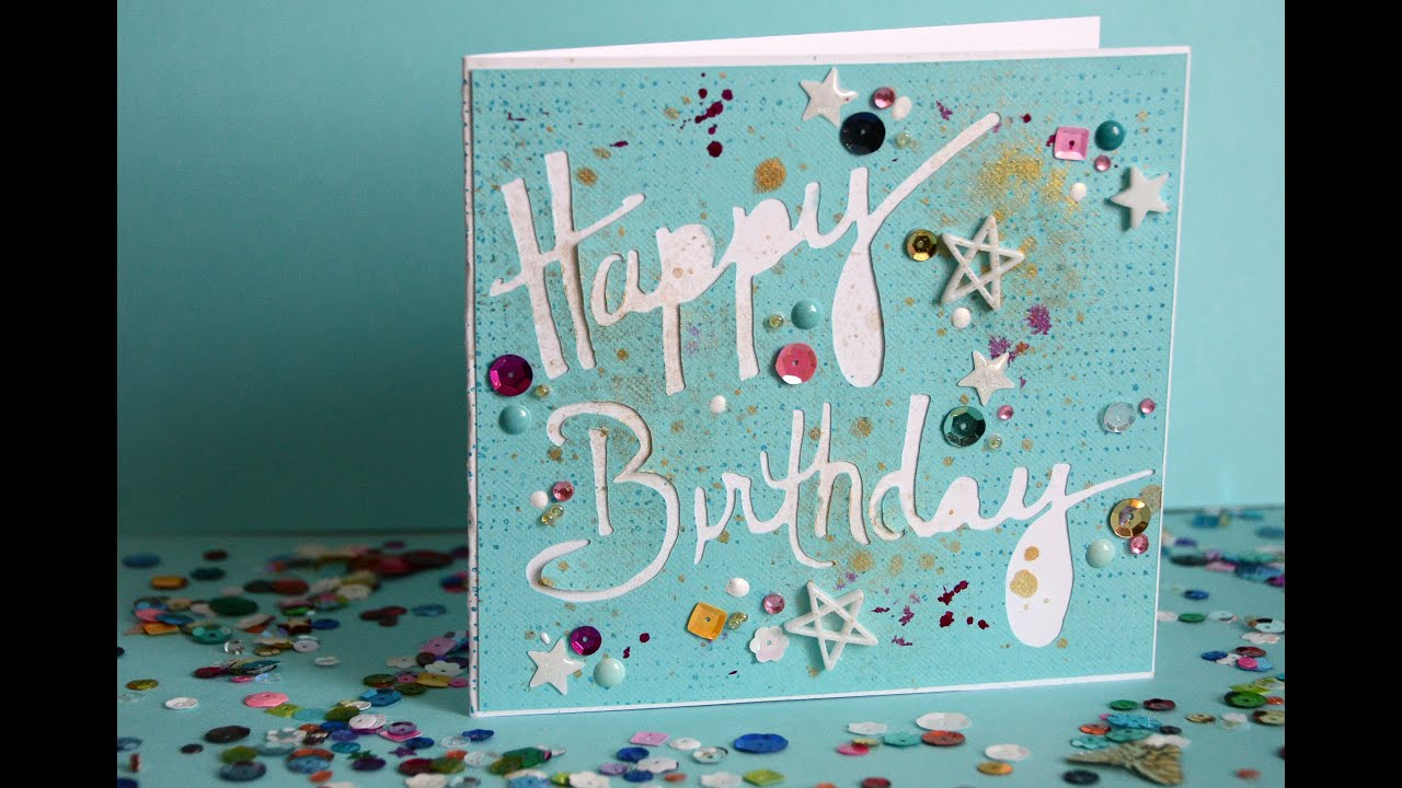 ScanNCut Custom Words For Happy Birthday Card YouTube