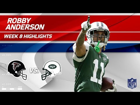 Robby Anderson's 6 Grabs, 104 Yards & 1 TD! | Falcons vs. Jets | Wk 8 Player Highlights