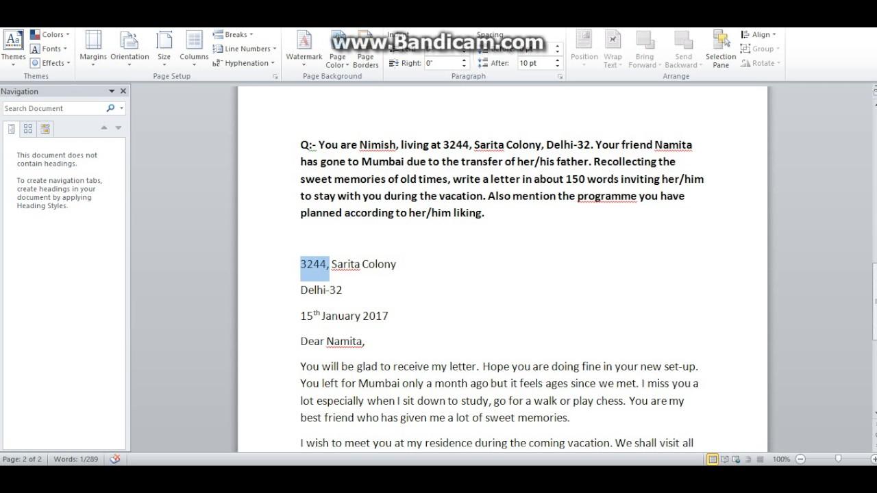 Informal Letter For Ssc Exams Youtube