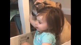 Bulldog And His Little Girl Are The Ultimate BFFs
