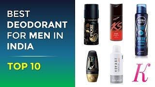 Top 10 Best Deodorants for Men in India with Price | 2017