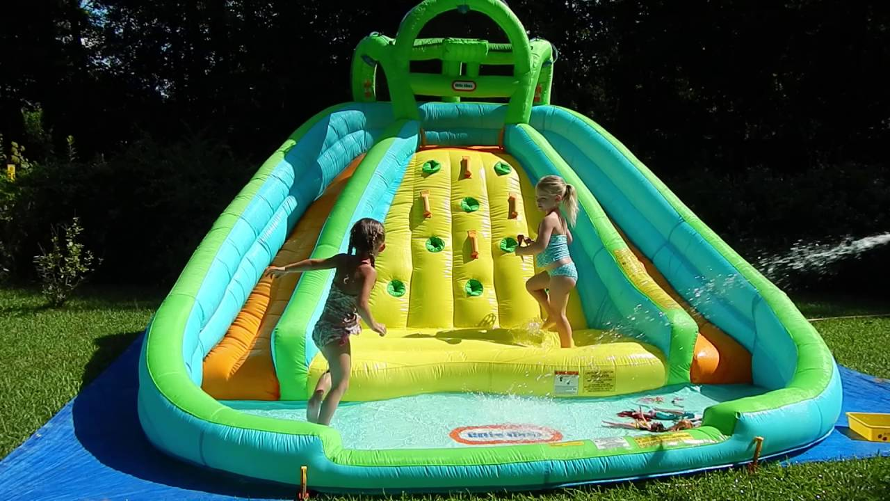Best water slide fun little tikes inflatable pool kids for Best children s paddling pool