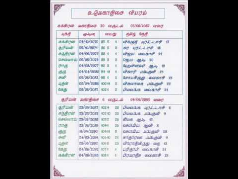 Personal Tamil And English Personal Horoscope Book 100 Page With