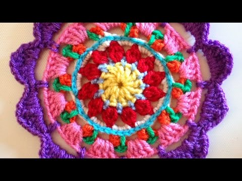 How to crochet a beautiful and colorful mandala diy crafts tutorial - How To Croc