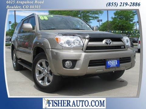 2008 Toyota 4Runner Limited gold | $25,900* | Boulder, Colorado | Fisher Auto (Stock #135625A)