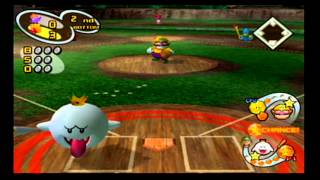 Mario Superstar Baseball Exhibition Game 3 - Mario Heroes VS Wario Garlics
