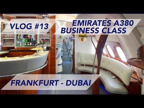 Emirates A380 Business Class Frankfurt to Dubai - New Adventures Ahead  [1080p60]