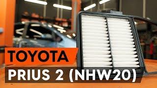 Comment remplacer Filtre à Air TOYOTA PRIUS Hatchback (NHW20_) - tutoriel