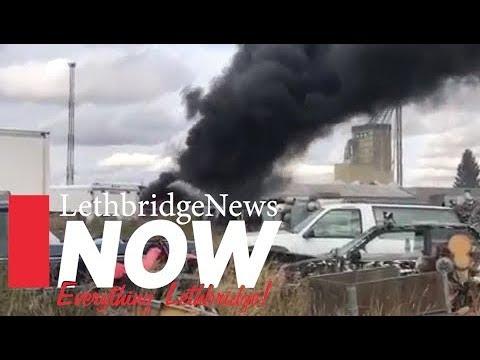 Fire in North Lethbridge