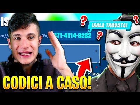 Ho MESSO CODICI A CASO nella CREATIVA ed ECCO COSA HO TROVATO!!😱 Fortnite ITA