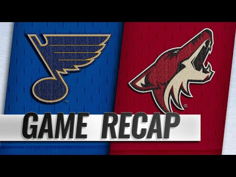 Balanced offense leads Coyotes past Blues, 6-1