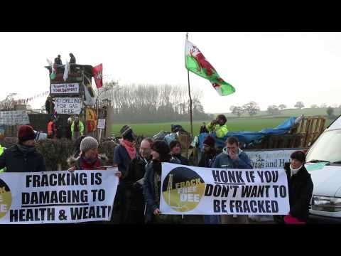 Anti Fracking Borras and Holt community protection camp 20th November 2014
