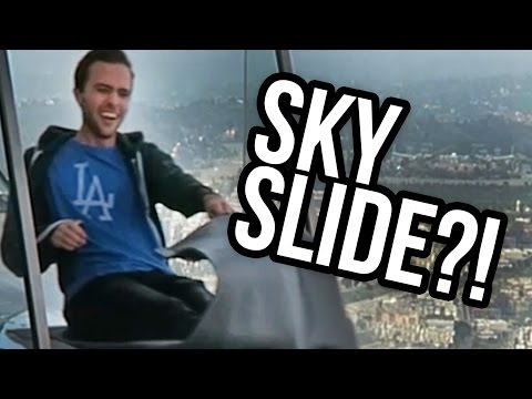 SKY SLIDE DOWNTOWN LOS ANGELES?! (Lunchy Break)