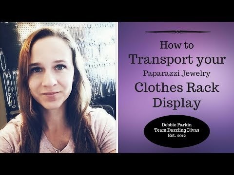 How to transport your Paparazzi Jewelry Clothes Rack Display