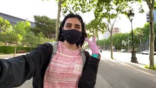 Испания на карантине первый день на свободе Барселона куда то бежит Камп ноу