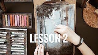 Пастель для начинающих. Урок №2 Рисуем пейзаж.ArtSK