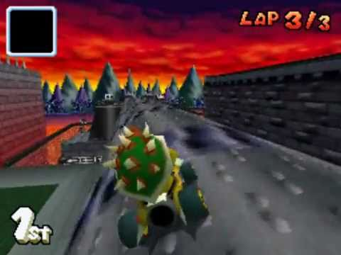 Mario Kart Ds Bowser Castle Youtube