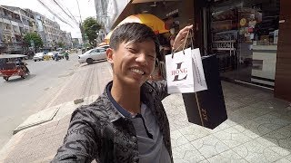 I GOT A NEW SHOES AND WALLET, Cheers !!!! - Cambodia Vlog 2017
