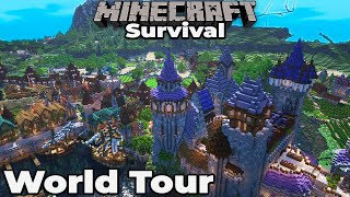 Minecraft 1.15 Survival : Ep. 275 : WORLD TOUR AND DOWNLOAD : Building with fWhip