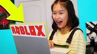 SURPRISING SISTER WITH A ROBLOX LAPTOP!!