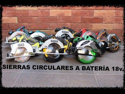 SIERRAS CIRCULARES A BATERÍA