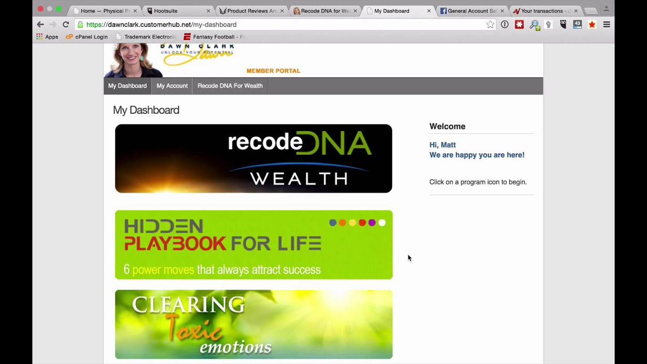 Recode dna for wealth by dawn clark youtube recode dna for wealth by dawn clark malvernweather Choice Image