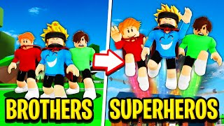 TRIPLET BROTHERS to SUPERBROTHERS in Roblox BROOKHAVEN RP!!
