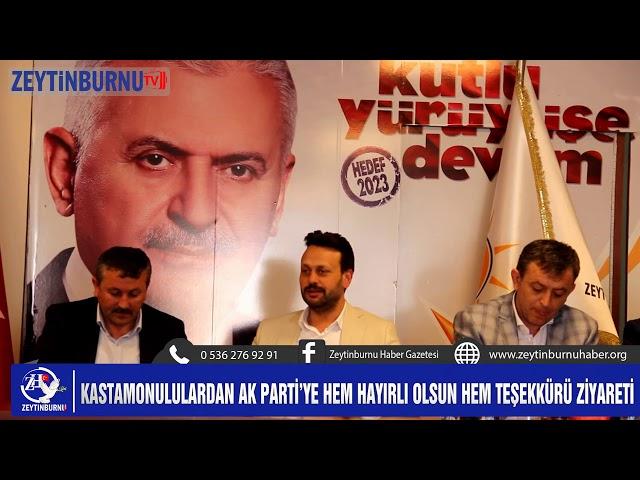 Kastamonulular AK Parti'ye Teşekkür ziyaretinde bulundu
