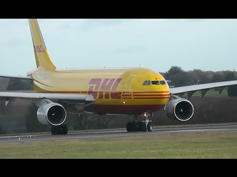 Plane Spotting at London Luton Airport (Inc. DHL A300)