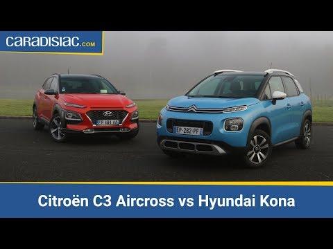 Comparatif - Citroën C3 Aircross vs Hyundai Kona