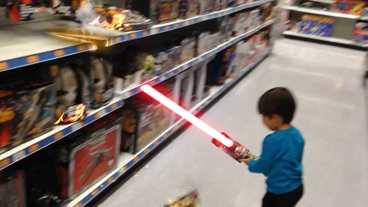 Toy Lightsaber - YouTube for How To Make A Lightsaber For Kids  76uhy