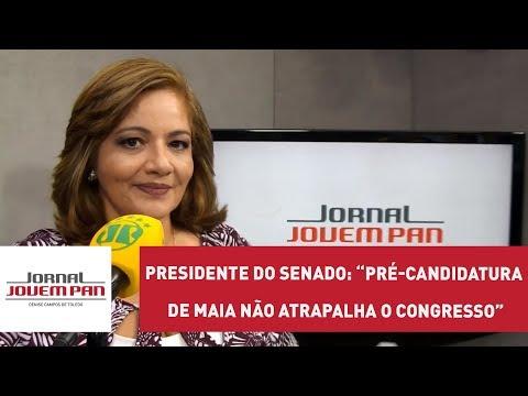 Presidente do Senado diz que pré-candidatura de Maia não atrapalha o Congresso