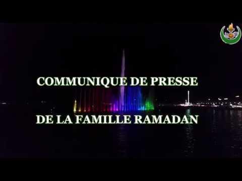 Communiqué de presse de la famille RAMADAN !