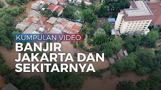 Kumpulan Video Banjir di Jakarta dan Sekitarnya, Rabu 1 Januari 2020