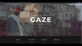 Gaze WordPress Theme - Using WPBakery Page Builder