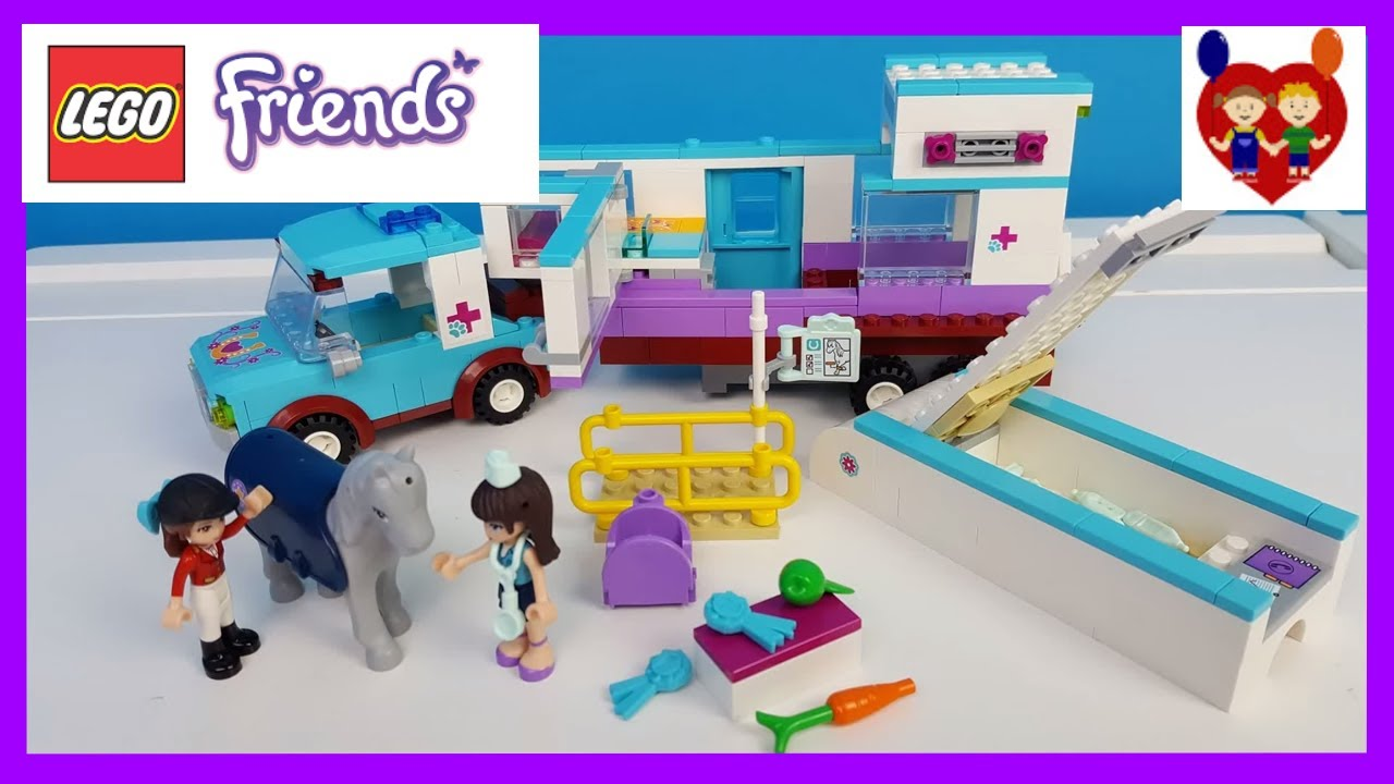 Lego Friends Horse Vet Trailer Build And Play Youtube