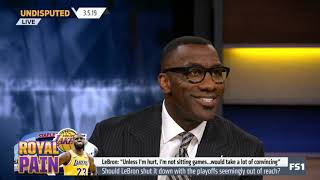 UNDISPUTED | Should LeBron shut it down with the playoffs seemingly  out of reach? _ Skip & Shannon
