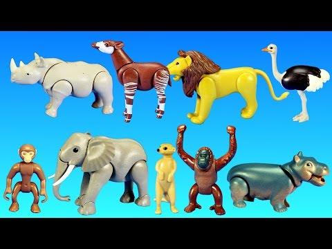 Thumbnail: Playmobil Safari Wild Animals Buiding Toy Sets Collection For Kids