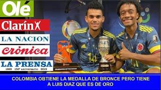 Reaccion Prensa Argentina Partido de Luis Diaz. COLOMBIA VS PERU